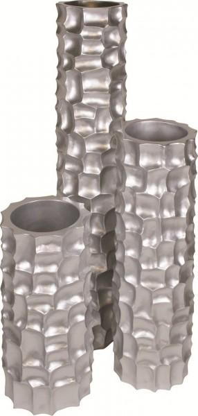 Mosaic Column silber | Kunstharz Pflanzsäule