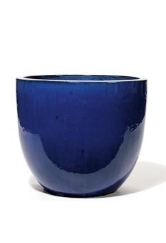Vaso Pinolo | Keramikkübel Königsblau