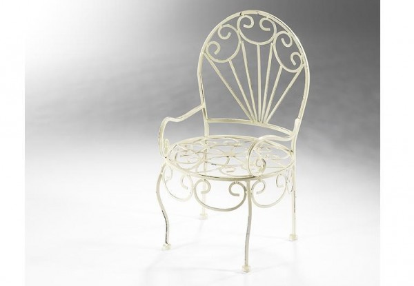 Metall-Deko-Stuhl für Pflanzkübel | Metall-Dekoartikel ...