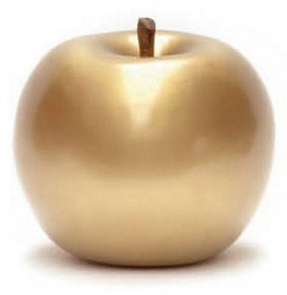Keramik Apfel gold | Cores da Terra
