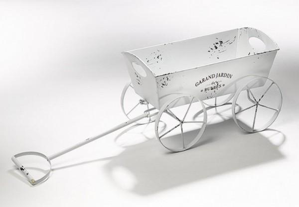 Leiterwagen Pflanzgefäß aus Metall