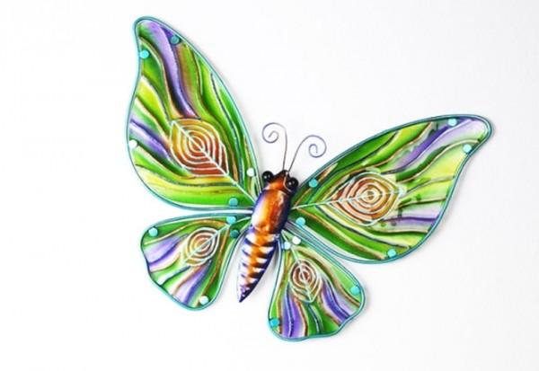 Peaca - Deko Schmetterling aus Glas und Metall