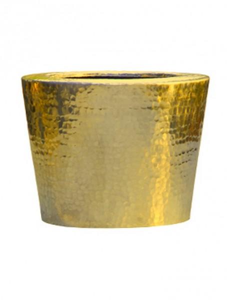 Elegant Gold | Aluminium Pflanzkübel gehämmert