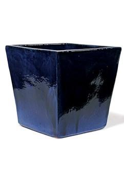 Vaso Quadro - Keramikkübel Königsblau