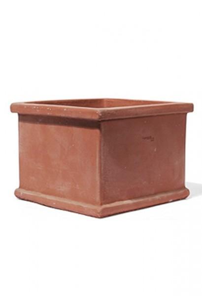 Vaso-Quadro-Norma-TerraDura-Impruneta-Line-Terracotta-Pflanzkübel