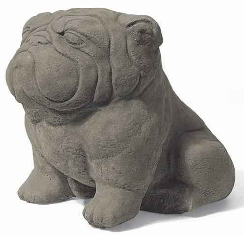 Steinfigur - Churchill der Mops