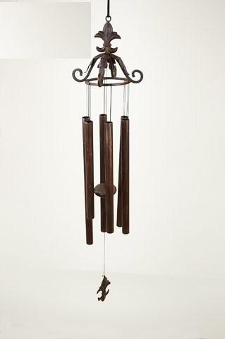 Großes Windspiel aus Bronze | Deko