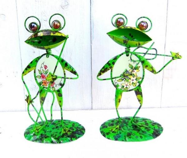 Frosch-Metall-Figur-Tiffany-Glas