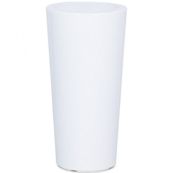 Premium Classic Pflanzvase weiß  rund konisch