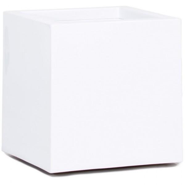 Premium Cubus Pflanzkübel weiß