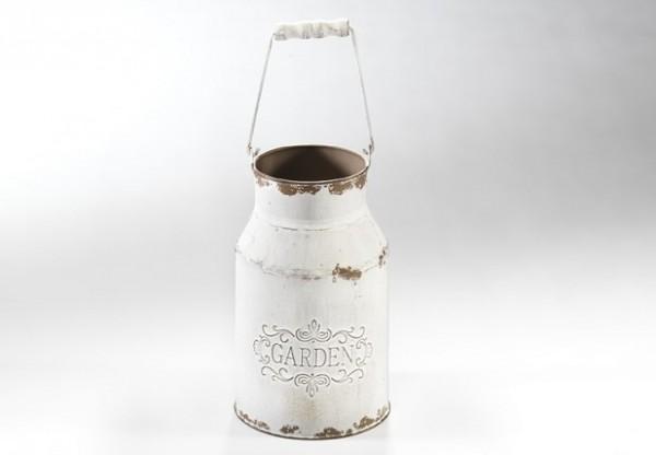 Deko-Milchkanne aus Metall | Garden