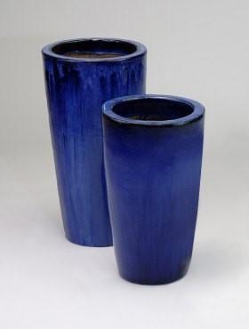Partner Vase   Blau Keramik