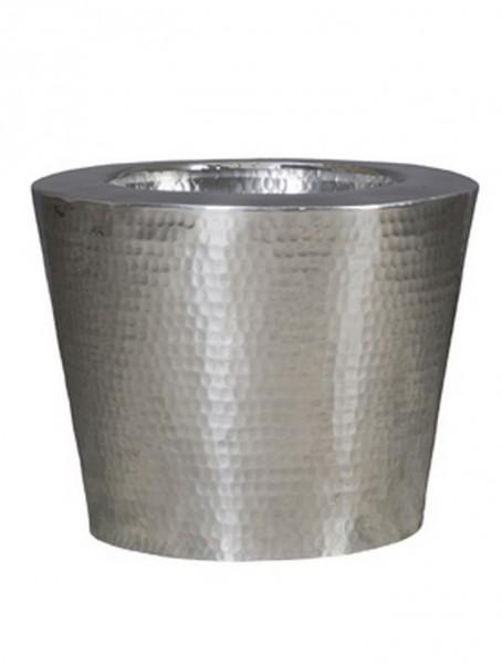 Pflanzkübel Elegant Aluminium gehämmert 50 cm