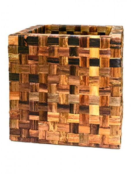 Banana Cube brown Pflanzkübel