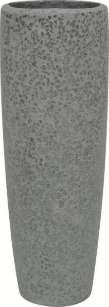 Glitter-grau-Polystone-Pflanzvase-59cm