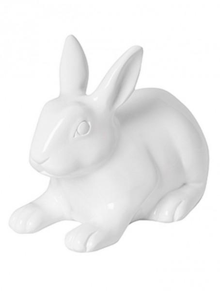 Hase Roger weiss | Rabbit ein Kunstobjekt aus Fiberglas und Steinpulver