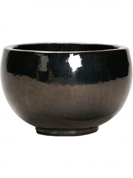Globe Pflanzgefäß   Metallglanz Keramik
