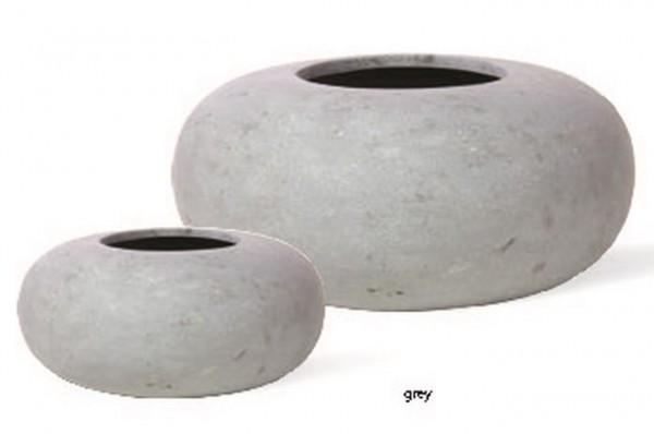 Donut grau | Polystone Pflanzgefäß | Palmenmarkt