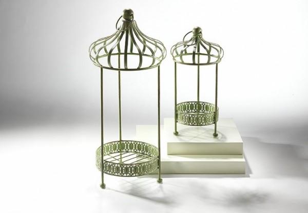Orsas Blumenständer aus Metall 2er Set - Nostalgiegrün