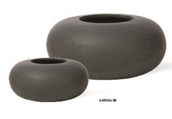 donut-polystone-pflanztopf-anthrazit