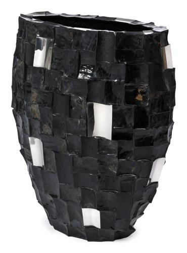 Boxer Oval Black - Pflanzgefäß