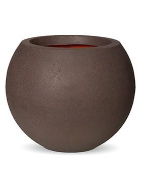 Sphere-Pflankugel-bruchfester-Braun-Kunststoff-Pflanzkuebel-Capi-Touch