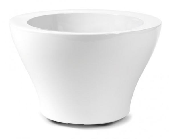 Sunset Cup Weiß - Hochglanz Pflanzkübel