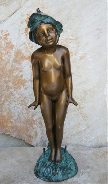 Dryade Akt stehend | Bronzefigur
