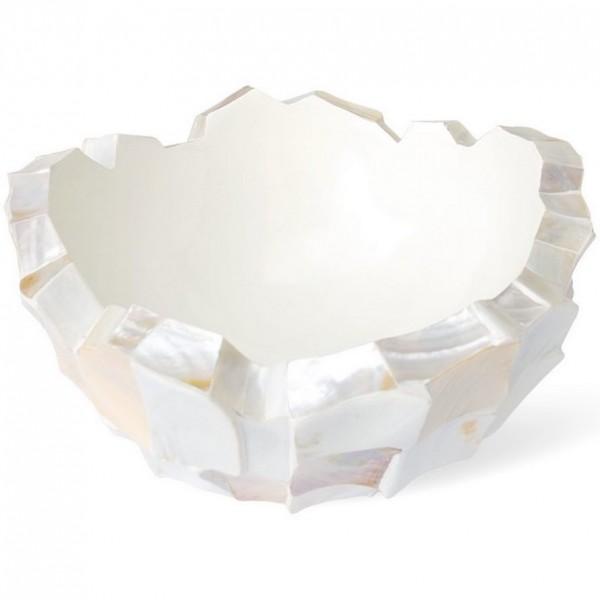 Coastline Cup white Pflanzschale | Perlmutt weiß