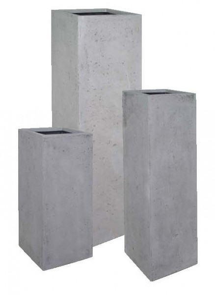 Style-grey-Polystone-Pflanzsäule-grau-fleurami