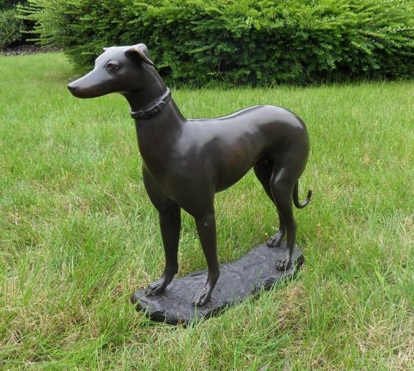 Windhund aus Bronze