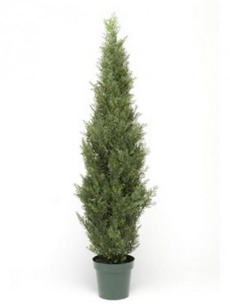 Juniperus Baum 150 cm | Wacholder Kunstbaum im Topf