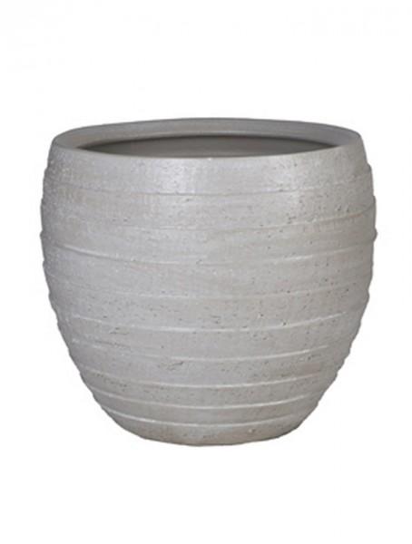 Amora ridgy | Keramikkübel sandbrush | Höhe 45cm