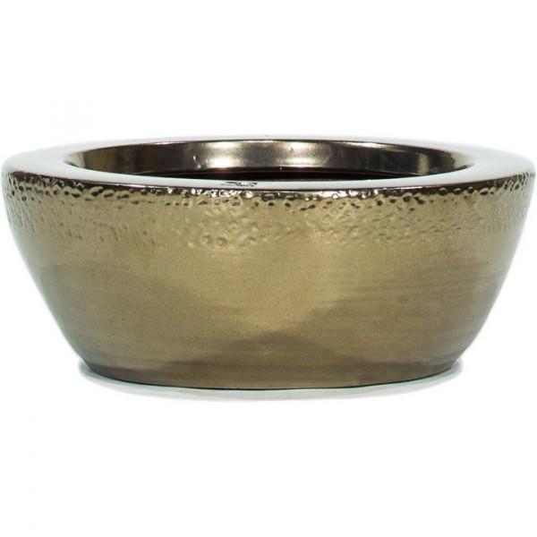 Pflanzschale Glaze Gold | Keramik