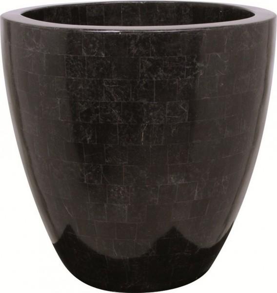 Pflanzkübel Geo Cup black polished