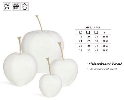 Deko Apfel - Hochglanz Weiß