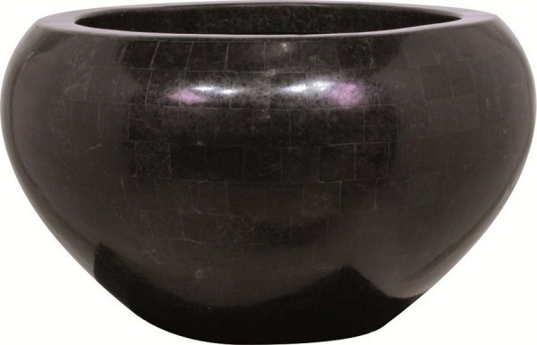 Geo Crown black polished | Pflanzschale