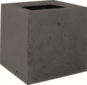 Square-anthracite-Poystone-Pflanzkübel-fleurami