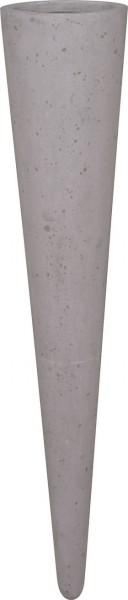 Wall-Cone-grey-Polystone-Deckenvase-fleurami
