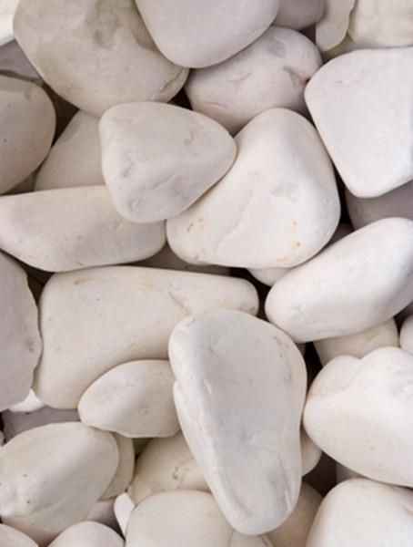 Pool marble Steine weiß   Pearl Stone 25 kg