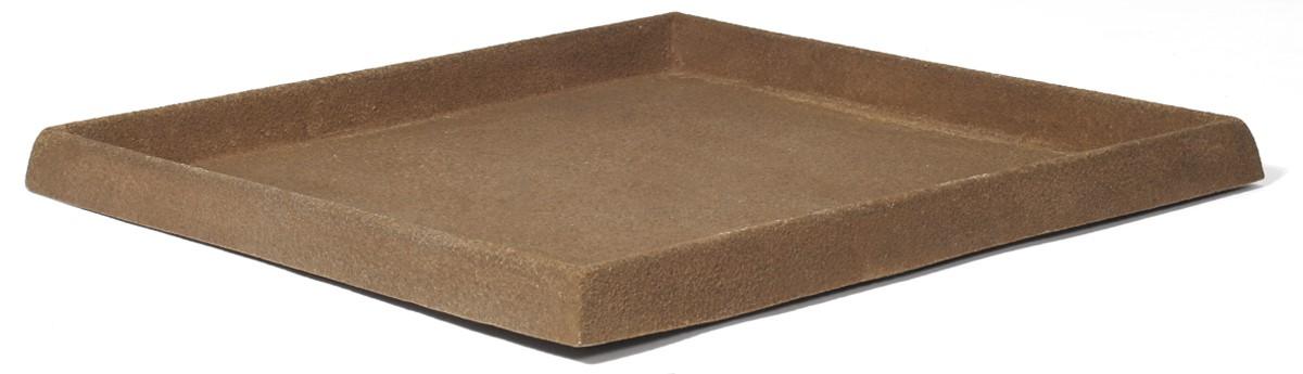untersetzer quadratisch f r pflanzk bel artline stone brown palmenmarkt. Black Bedroom Furniture Sets. Home Design Ideas
