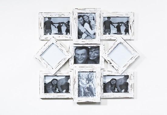 Bilderrahmen-Collage-Holz-weiss-shabby