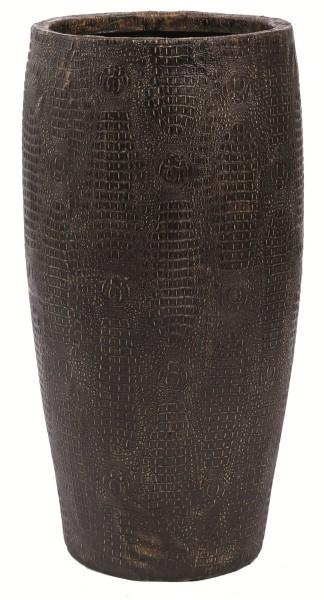 Croco-Design-Kunststoff-Pflanzvase