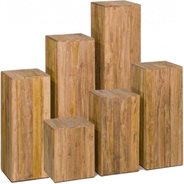 Teak-Holz-Paneelen Dekosäule Serie
