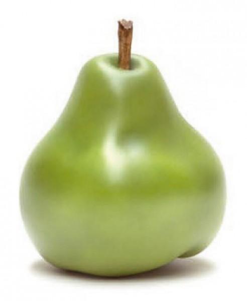 Keramik Birne grün | Cores da Terra