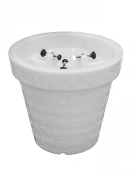 Bloom X-mas Pot Leuchtkübel weiß