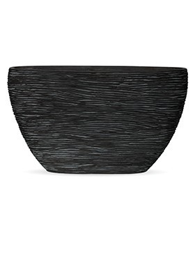 Pflanzkübel Riffel oval | Capi Nature Otello schwarz