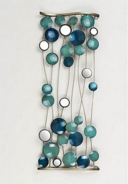Wandbild Blue aus Metall