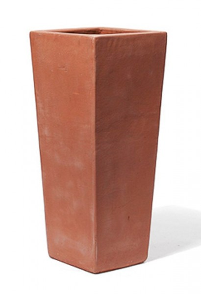 Vaso-Quadro-Alto-TerraDura-Impruneta-Line-Terracotta-Pflanzkübel