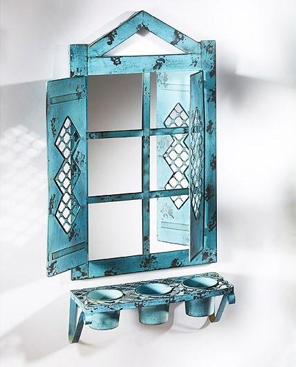 Metall Dekorationsspiegel Patna | für Pflanzen